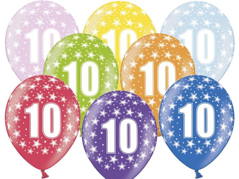 balon na dziesiąte urodziny