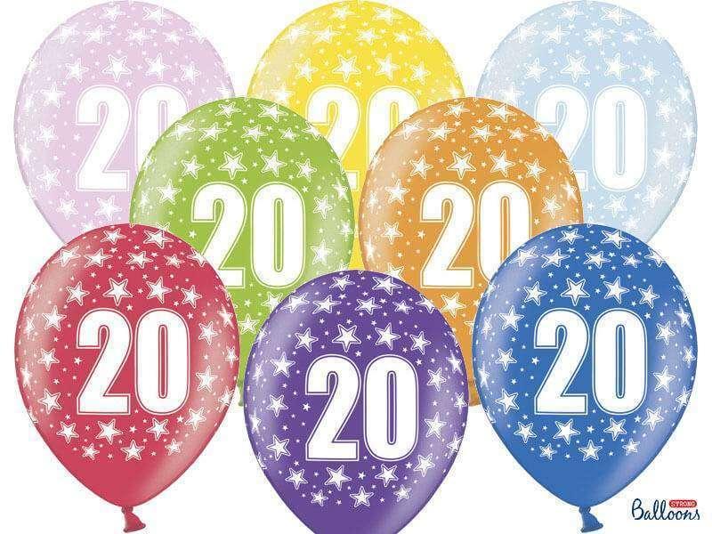 balon na 20 urodziny
