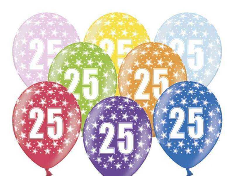 balon na 25 urodziny