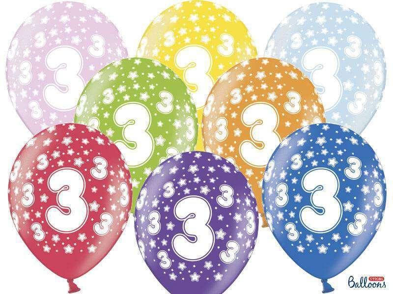 balon na trzecie urodziny