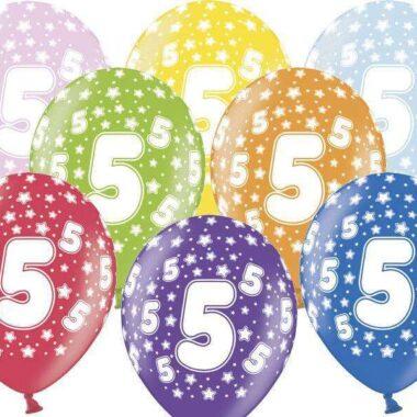 balon na piąte urodziny