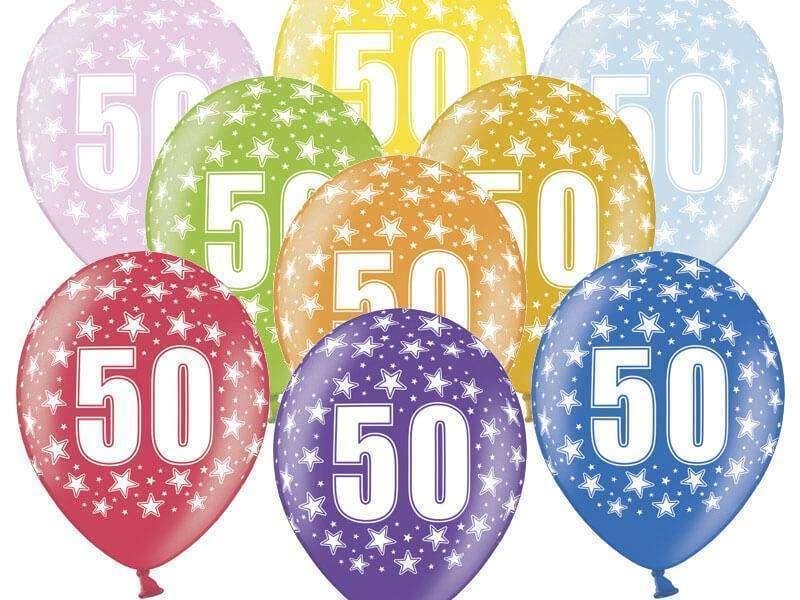 balon na 50 urodziny