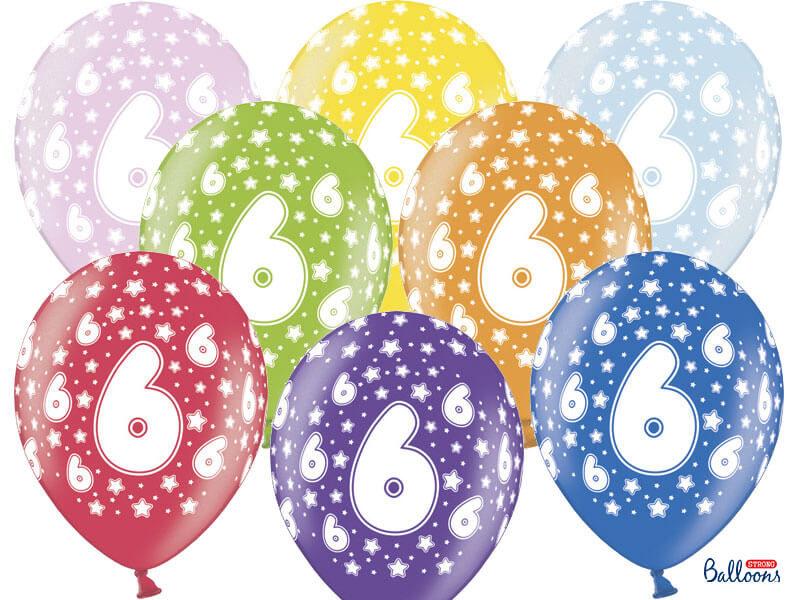 balon na szóste urodziny