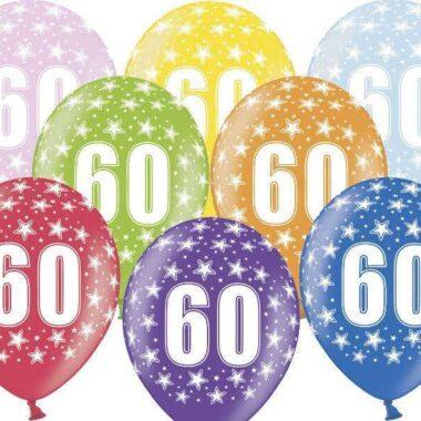 balon na 60 urodziny