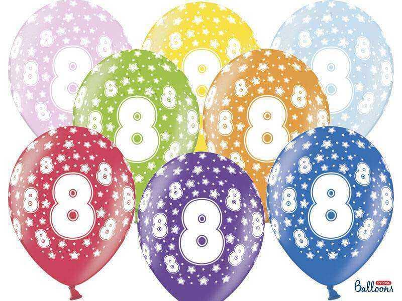 balon na ósme urodziny