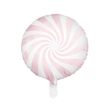 balon cukierek różowy