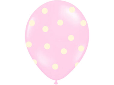 różowy balon w kropki