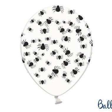 biały balon pająki