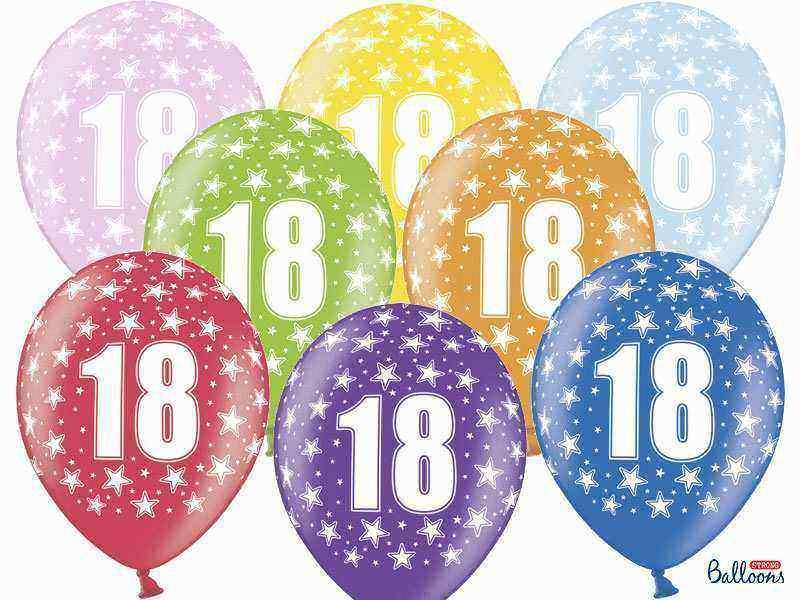 balony na osiemnastkę