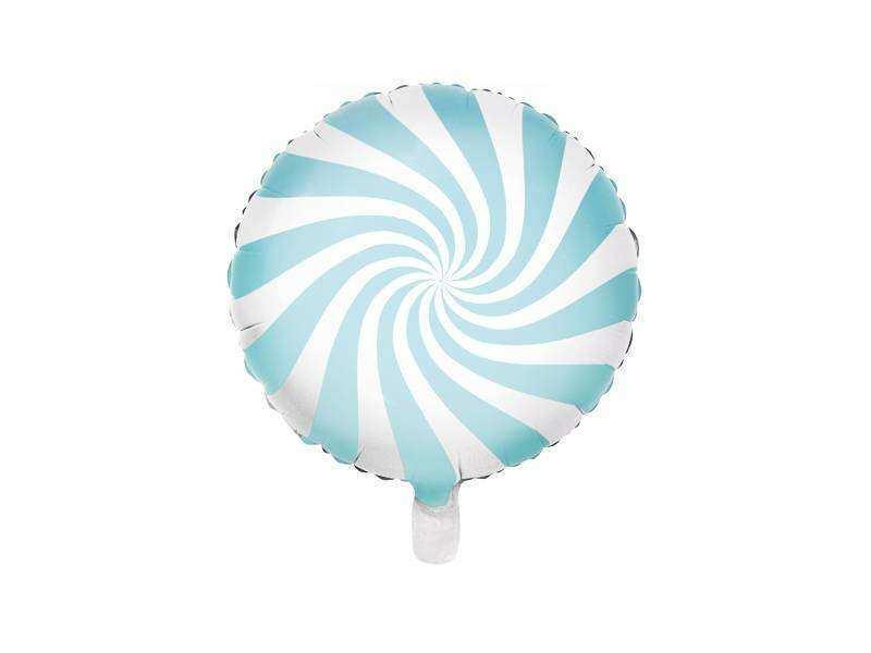 balon cukierek jasnoniebieski