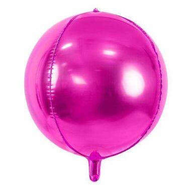 Balon ciemnoróżowy kula