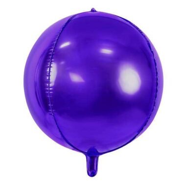 balon foliowy fioletowa kula