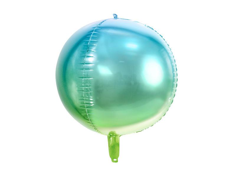 balon foliowy niebiesko-zielona kula