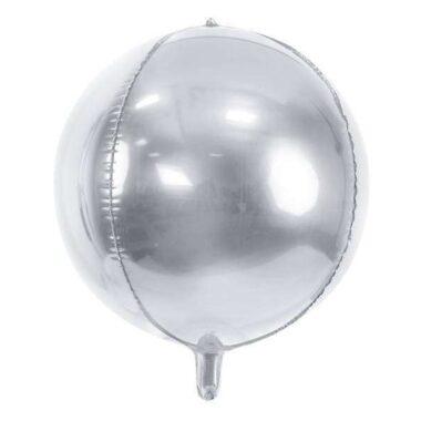 balon foliowy srebrna kula