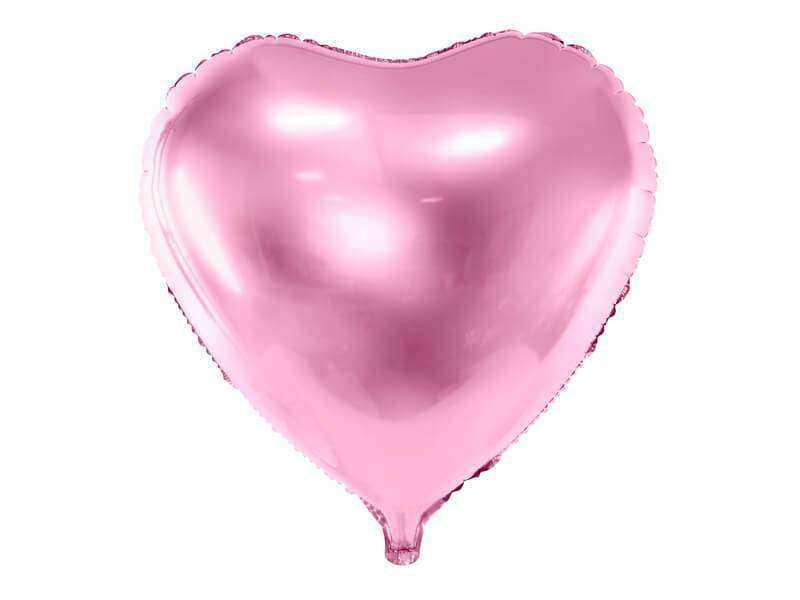 balon serce jasnoróżowe