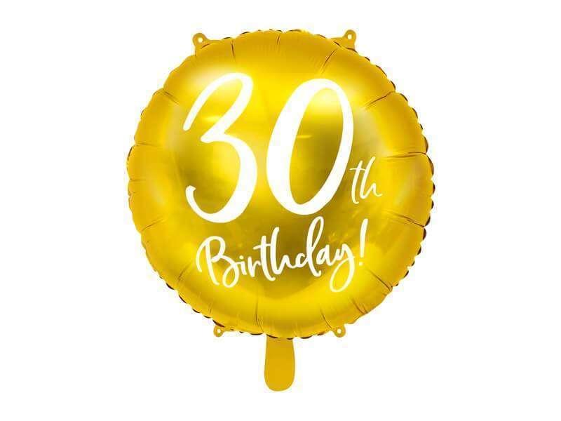 złoty balon na 30 urodziny
