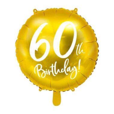 złoty balon na 60 urodziny