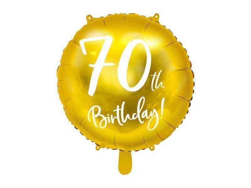 złoty balon na 70 urodziny