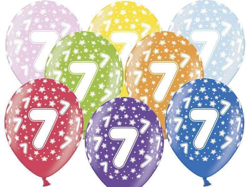 balon z cyfrą siedem