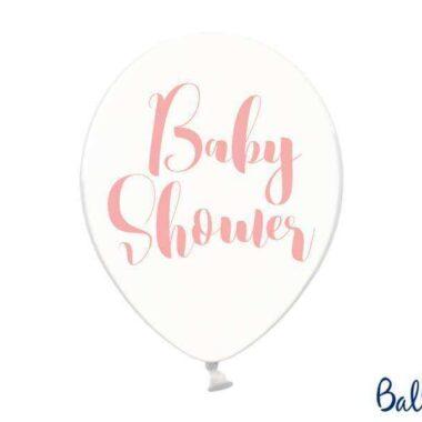 balon baby shower różowy 30 cm