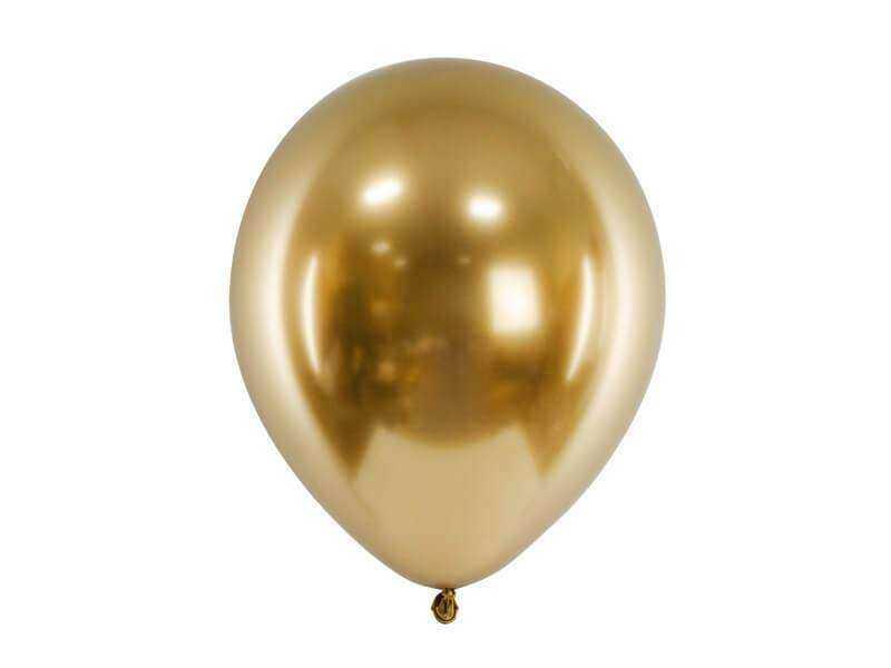 balon błyszczący złoty