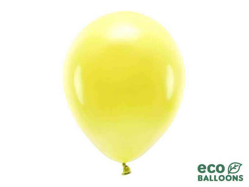 eko balon pastelowy żółty