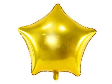 foliowy balon gwiazda złoty 48cm