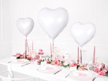 foliowe balony serca białe