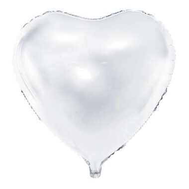 foliowy balon serce biały