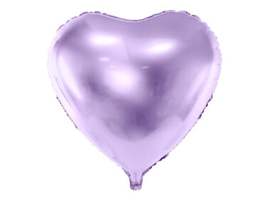 foliowy balon serce fioletowy