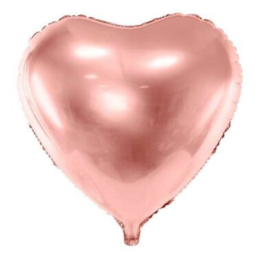balon foliowy serce różowy 45cm