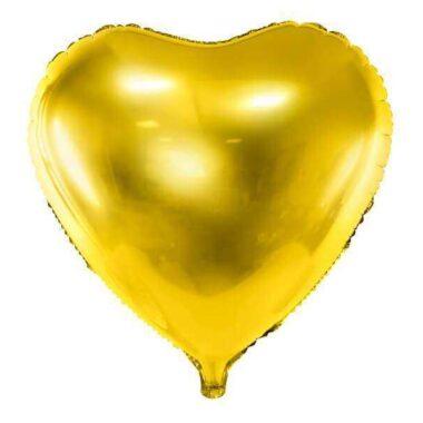 złoty balon serce foliowy