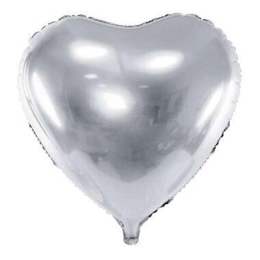 balon foliowy serce srebrny 61cm