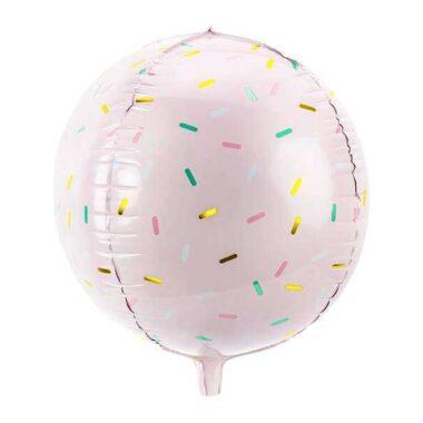 balon kula posypka jasnoróżowy