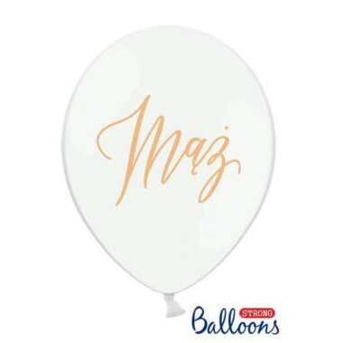 balon z napisem mąż