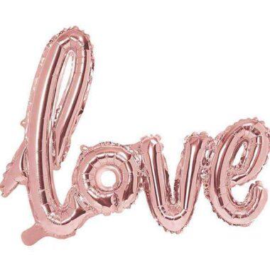 różowy balon love