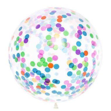 olbrzymi balon z konfetti