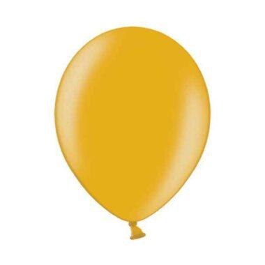 balon pastelowy metaliczny złoty 36cm