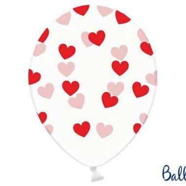 balon czerwone serca