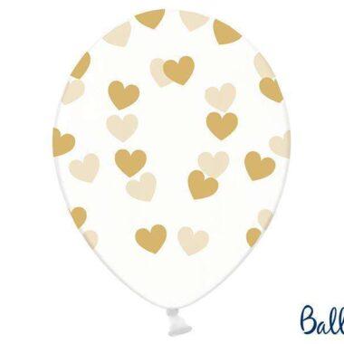 balon w złote serca