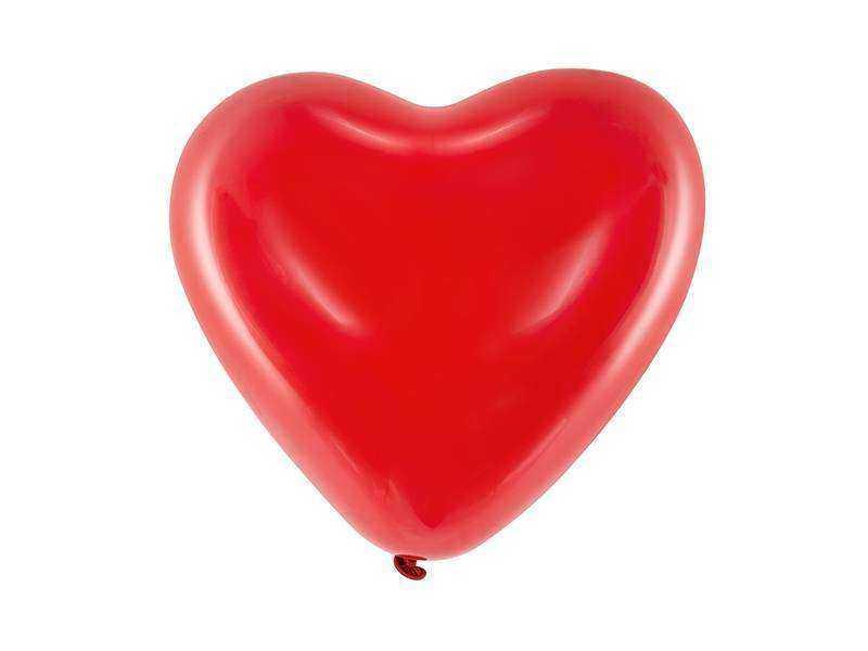 balon serce pastelowy czerwony