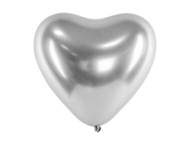 srebrny balon z połyskiem
