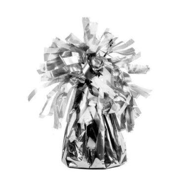 ciężarek do balonów srebrny