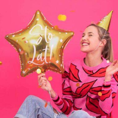 balony foliowy sto lat na urodziny