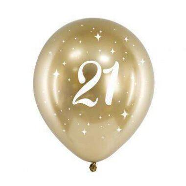 złoty balony nadruk 21