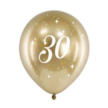 złoty balony nadruk 30