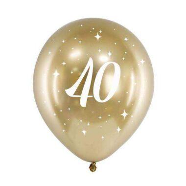 złoty balony nadruk 40