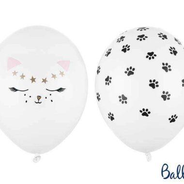 balon kotek biały 30cm